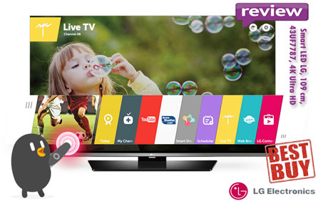 BEST-BUY inainte de Black Friday 2015 Smart TV LED LG 43UF7787 4K Ultra HD