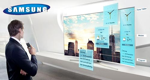 Televizor LED Curbat Smart 3D Samsung, 138 cm, 55JU7500, 4K Ultra HD