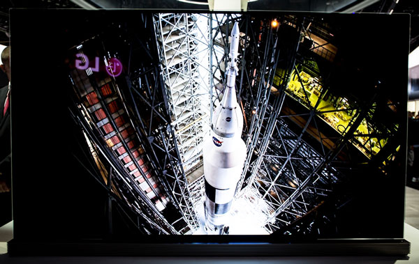 LG G6 Signature Smart OLED TV at CES 2016 Las Vegas Nevada