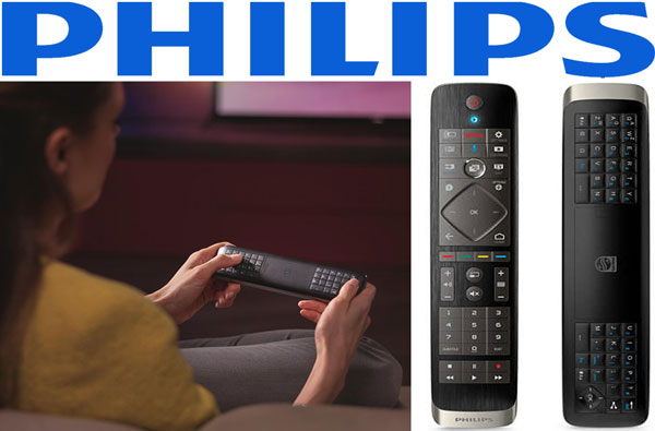 Philips 48PUS7600 si 55PUS7600 Telecomanda Qwerty cu Touchpad si doua fete