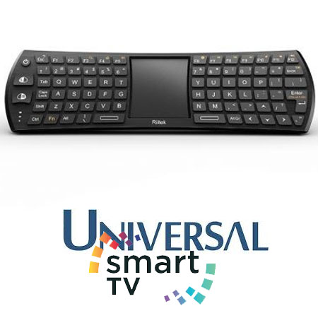 Tastatura ieftina Smart TV cu touchpad compatibila Android OS, TV Box, iPad