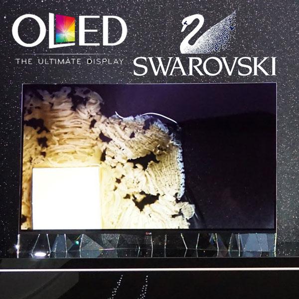 LG 55EA975V OLED Curved Swarovski Crystals TV