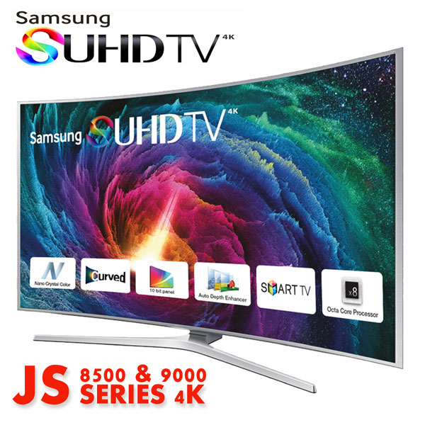 Samsung SUHD JS9000 procesor octa-core SUHD JS8500 procesor quad-core