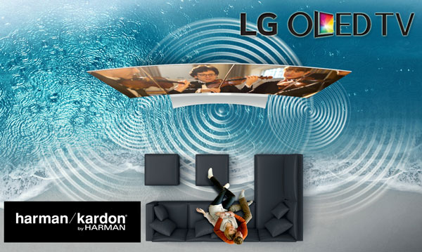Prezentare Televizoare LG OLED Curved 4K 3D+ Smart TV. Sistem calibrat de procesare a sunetului Harman Kardon.