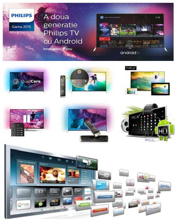 Aplicatii Android pentru Televizorul Philips 48PUS7600-12 4K Ultra HD din seria 7600