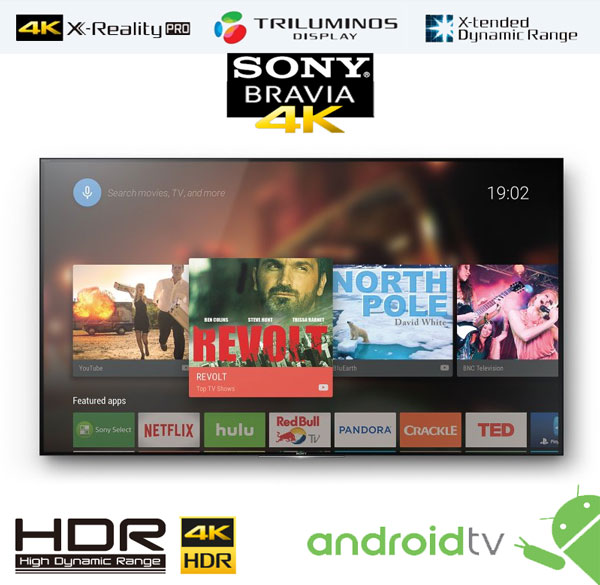 Review Smart Android TV Sony Bravia XD94 XD93 4K HDR
