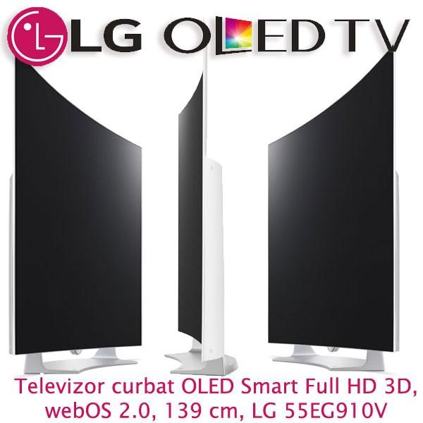 Design - Pareri Pro si Contra Televizor curbat OLED Smart Full HD 3D, weOS 2.0, 139 cm, LG 55EG910V