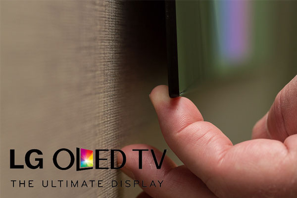 LG OLED TV W7 Ultra Slim CES 2017 Las Vegas