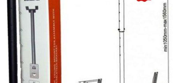 Suport TV de tavan ieftin Cabletech UCH0074A pentru LCD, LED sau OLED