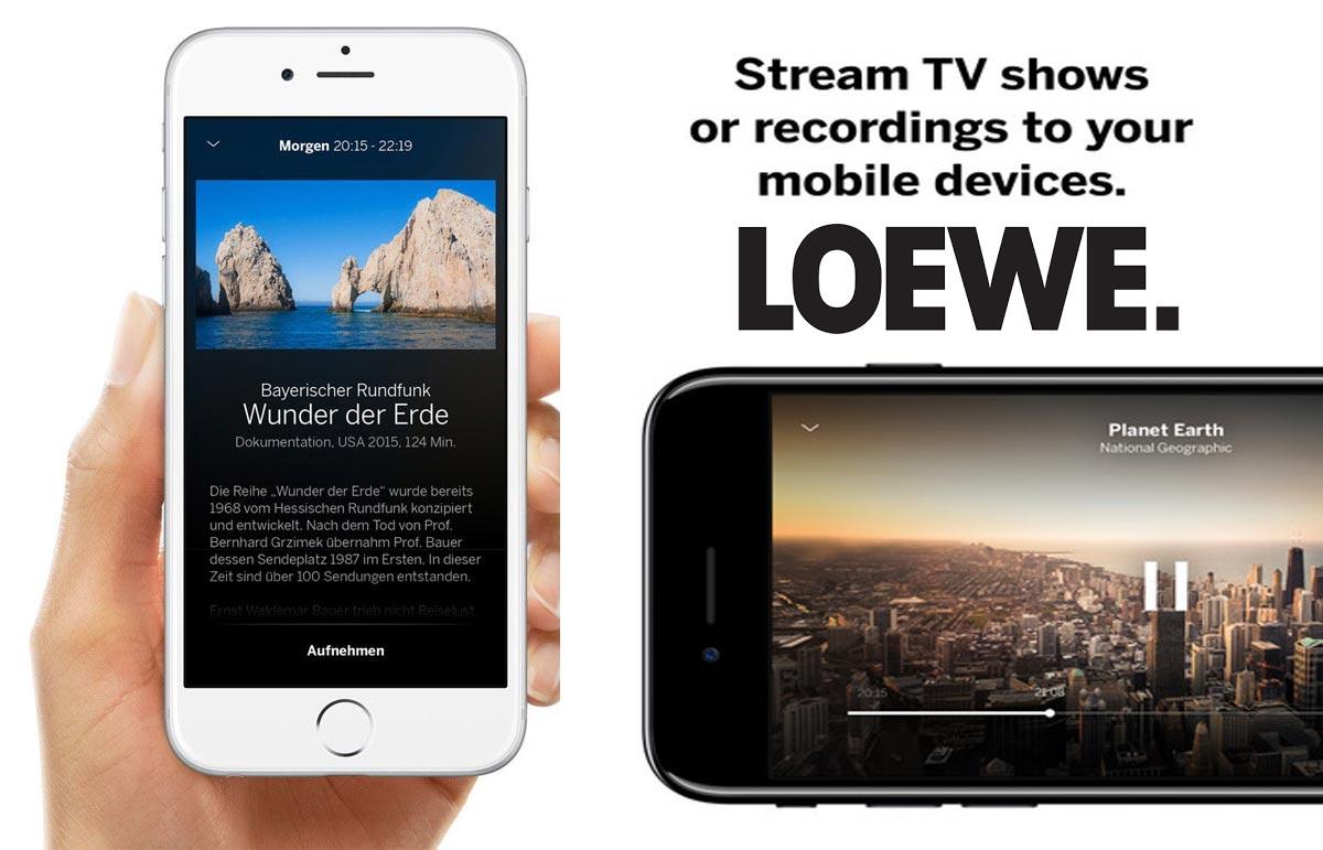 Loewe lanseaza o noua aplicatie mobila pentru Smart TV-uri cu Ghid TV si Recording Remote