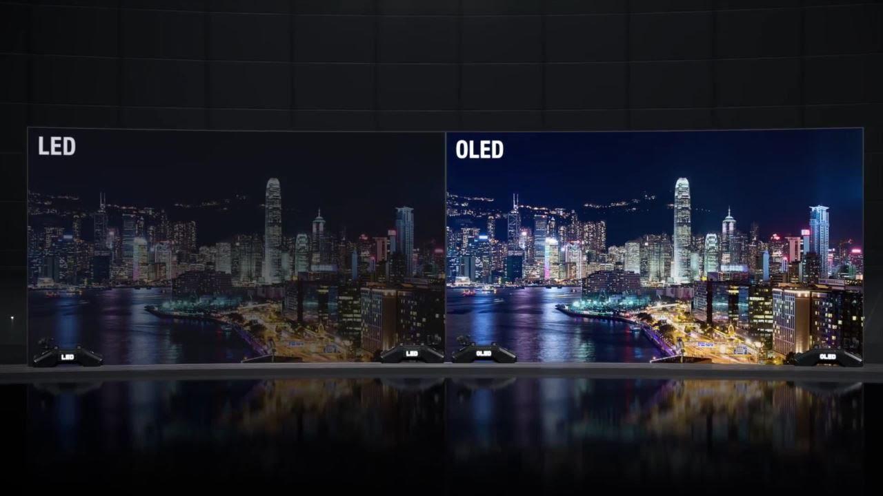 Diferente imagine ecran OLED vs ecran traditional LCD LED